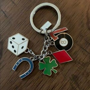 "Coach ""lucky"" key chain"